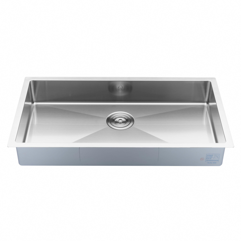 Bai 1248 Stainless Steel 16 Gauge Kitchen Sink Handmade 33 Inch Undermount Shallow Single Bowl Sink Kitchen Sink Kitchen Sink Strainer