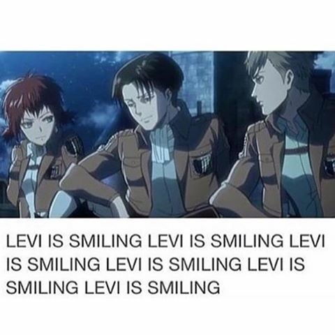 Levi smiling :)