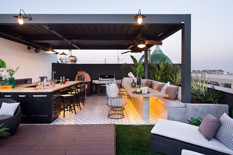 Paradise Outdoor Kitchens For Entertaining Guests Rooftop Terrace Design Terrace Design Rooftop Design