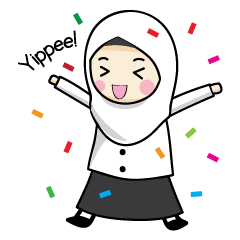check out the Jasmin Muslimah Student sticker by Alwaris Darakai on chatsticker.com
