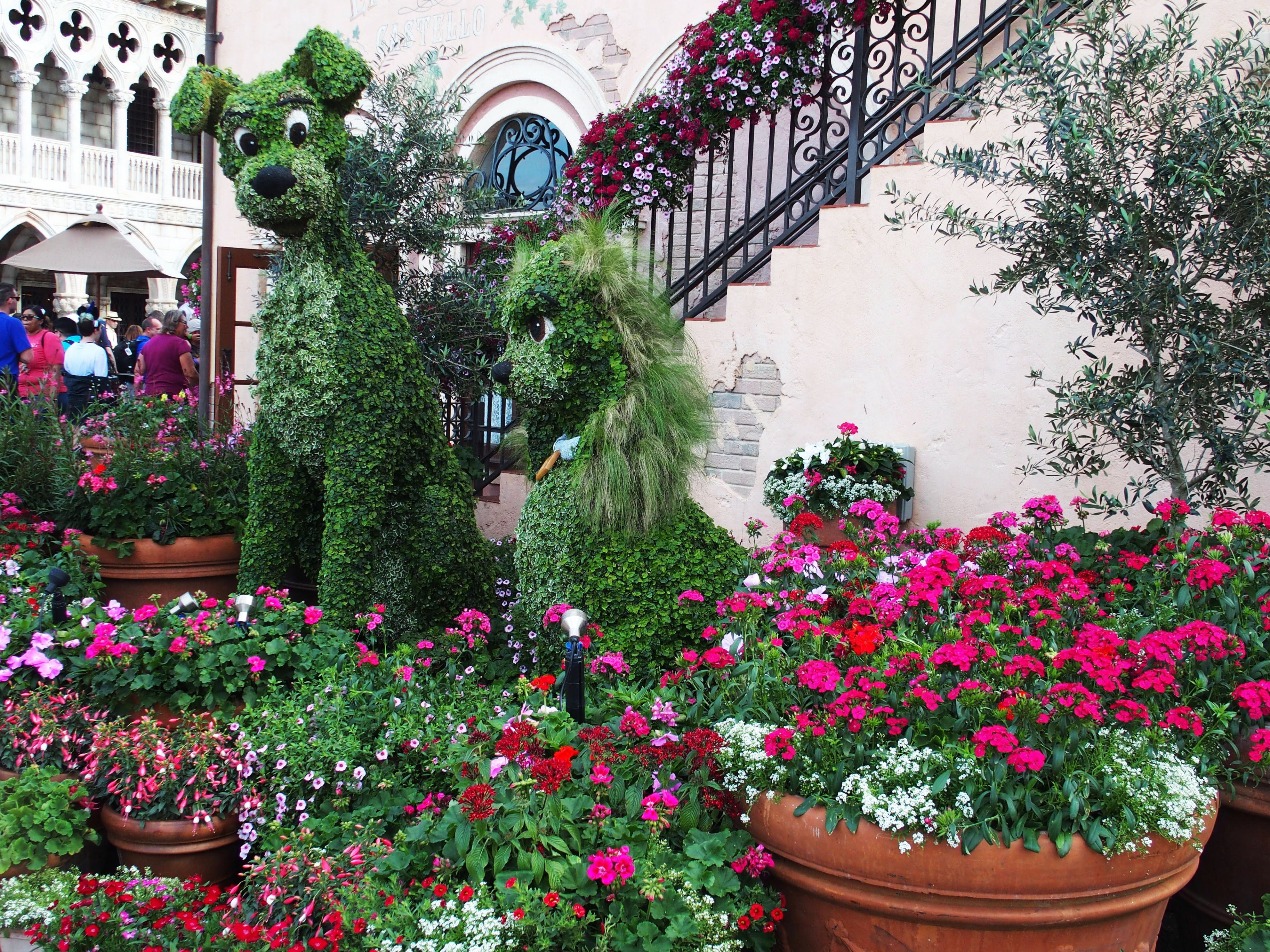 Lady and the Tramp in Italy - EPCOT's Flower and Garden Festival 2017