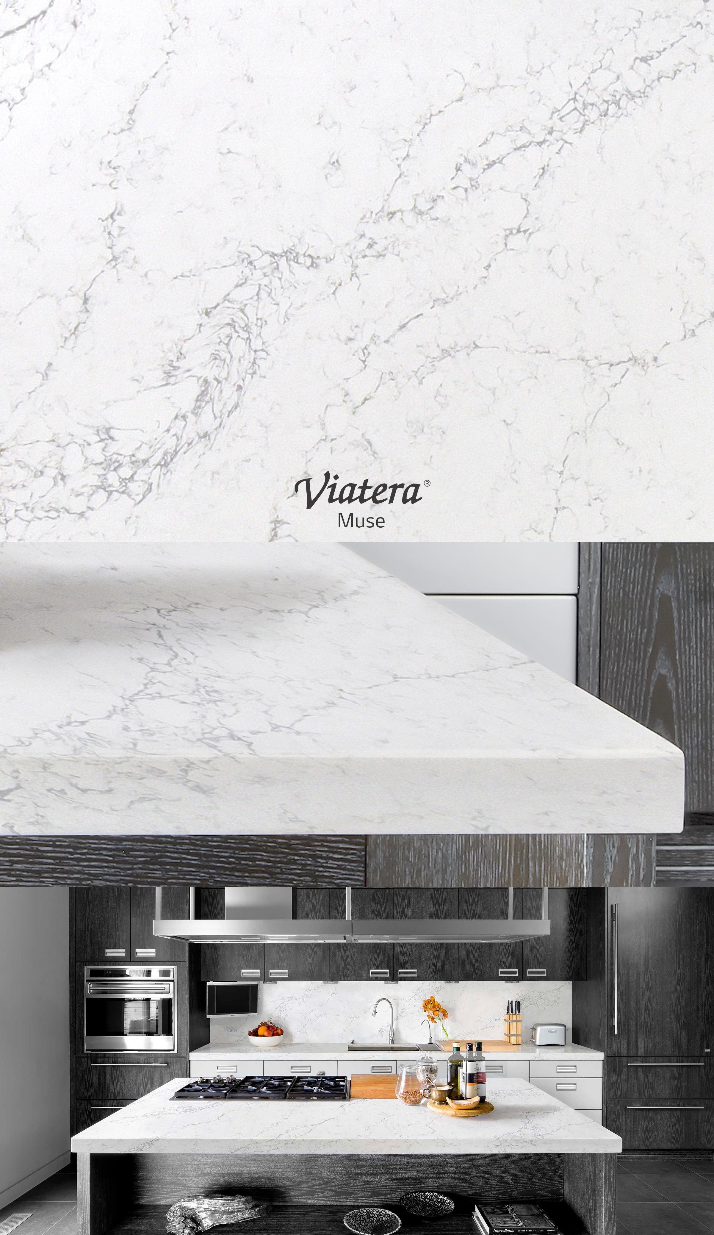717 W Annie Bar countertop will be Viatera Muse l Quartz waterfall ...