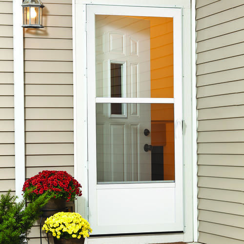 High Quality LARSON Storm Doors Are Built To Protect What Matters Most. This White Storm  Door Offers Extra Security, Enhanced Curb Appeal, Greater Ventilation And  ...