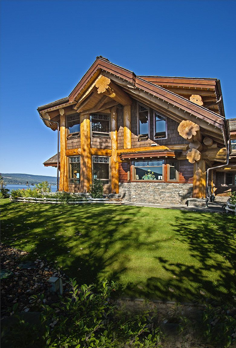 signal point home pioneer log homes of bc loghome. Black Bedroom Furniture Sets. Home Design Ideas