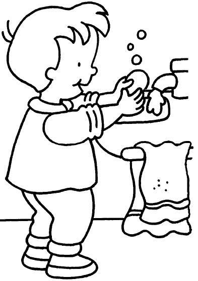 Colorear Nino Lavarse Las Manos Jpg 393 558 Habitos De Higiene Habitos De Higiene Personal Higiene Personal Ninos