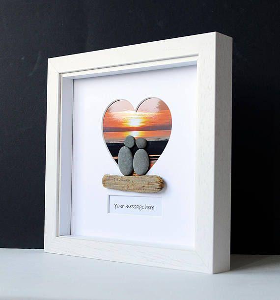 Do It Yourself Home Design: Framed Pebble Art