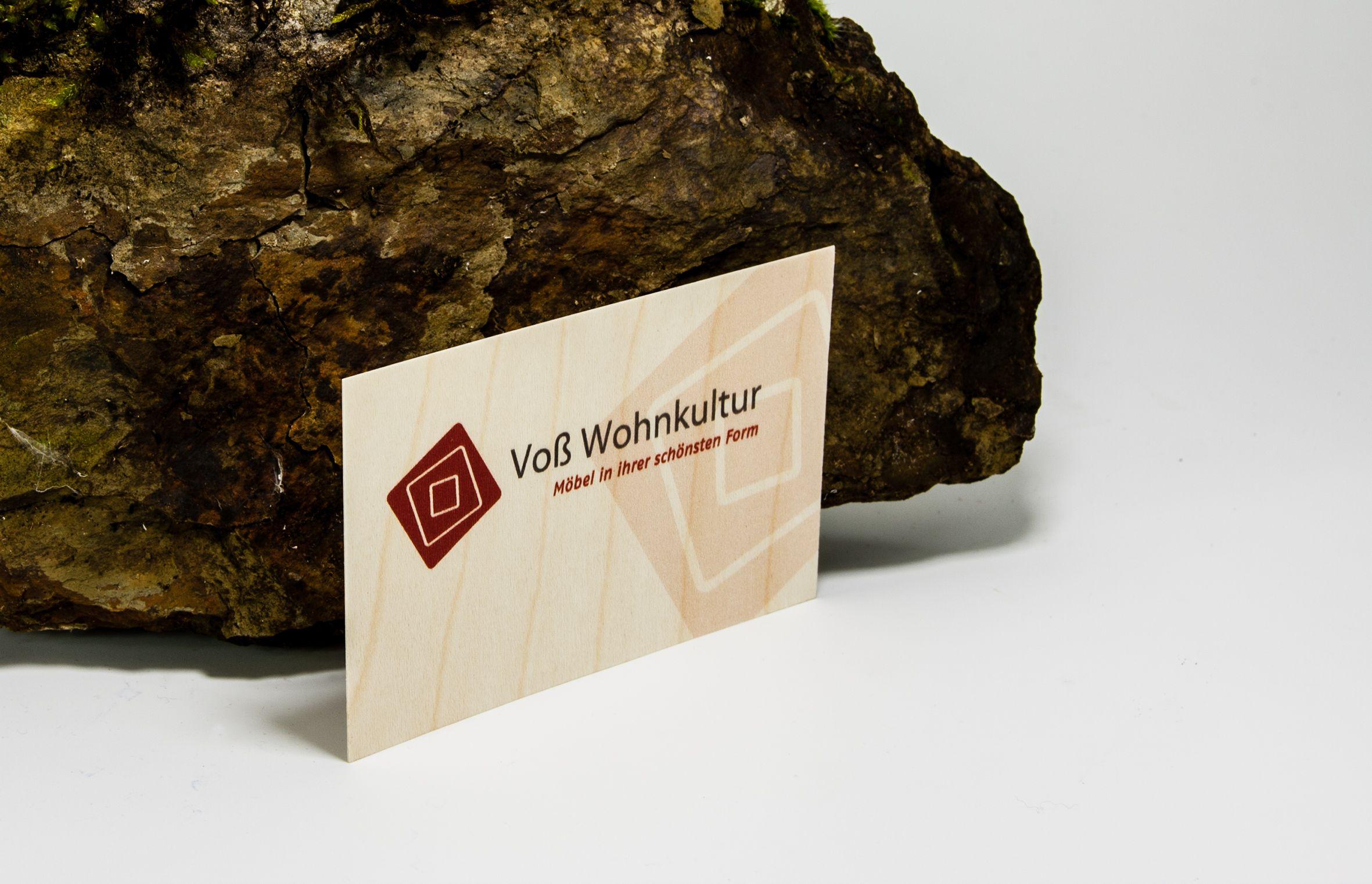 Visitenkarten Aus Holz Aufmerksamkeitsstark Im Digitalen