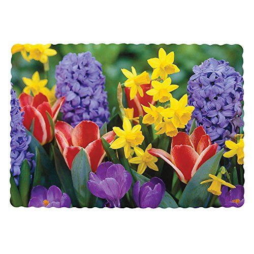 Royal Kitchen Design: Royal Flower Design Placemats, 9.5