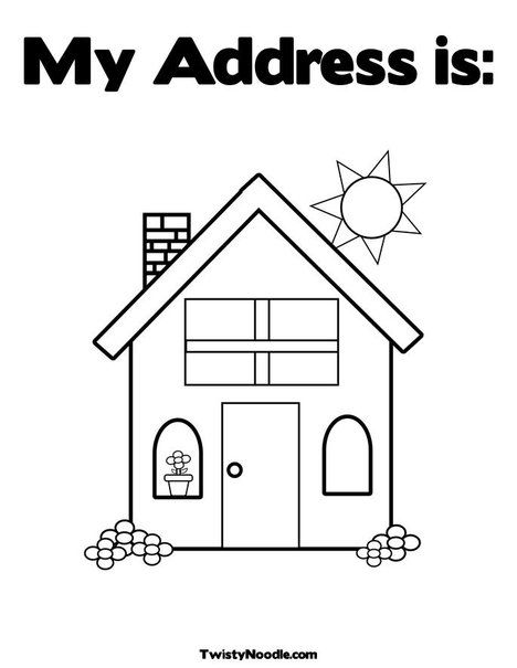 Home Coloring Page From Twistynoodle Com House Colouring Pages Family Coloring Pages Coloring Pages