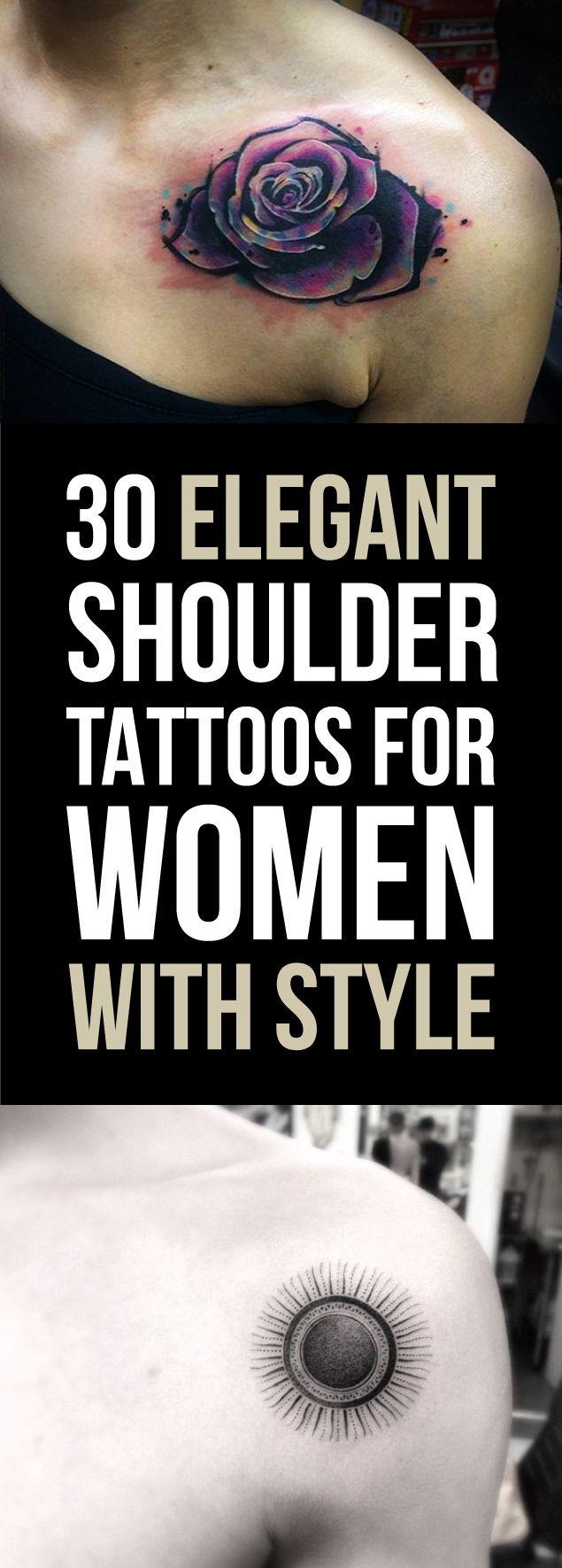 elegant shoulder tattoos for women with style artsy pinterest