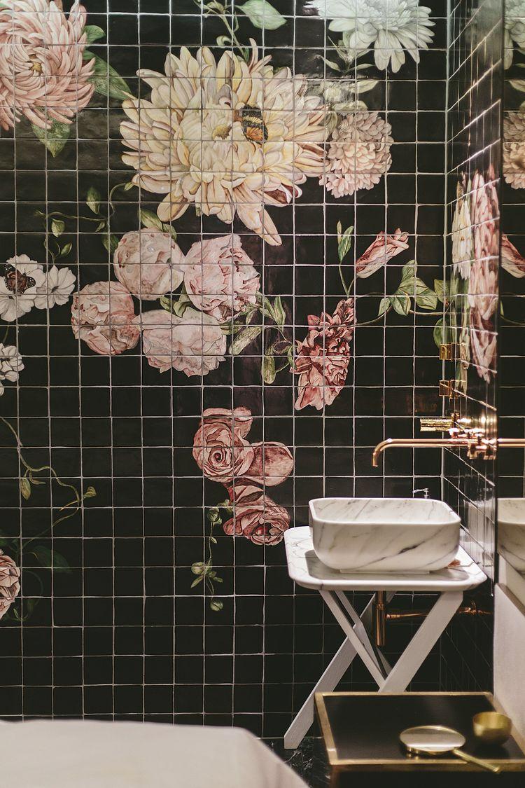 Pin By Tasos Tsekouras On La Maison Floral Tiles Decorative Tile Home Deco