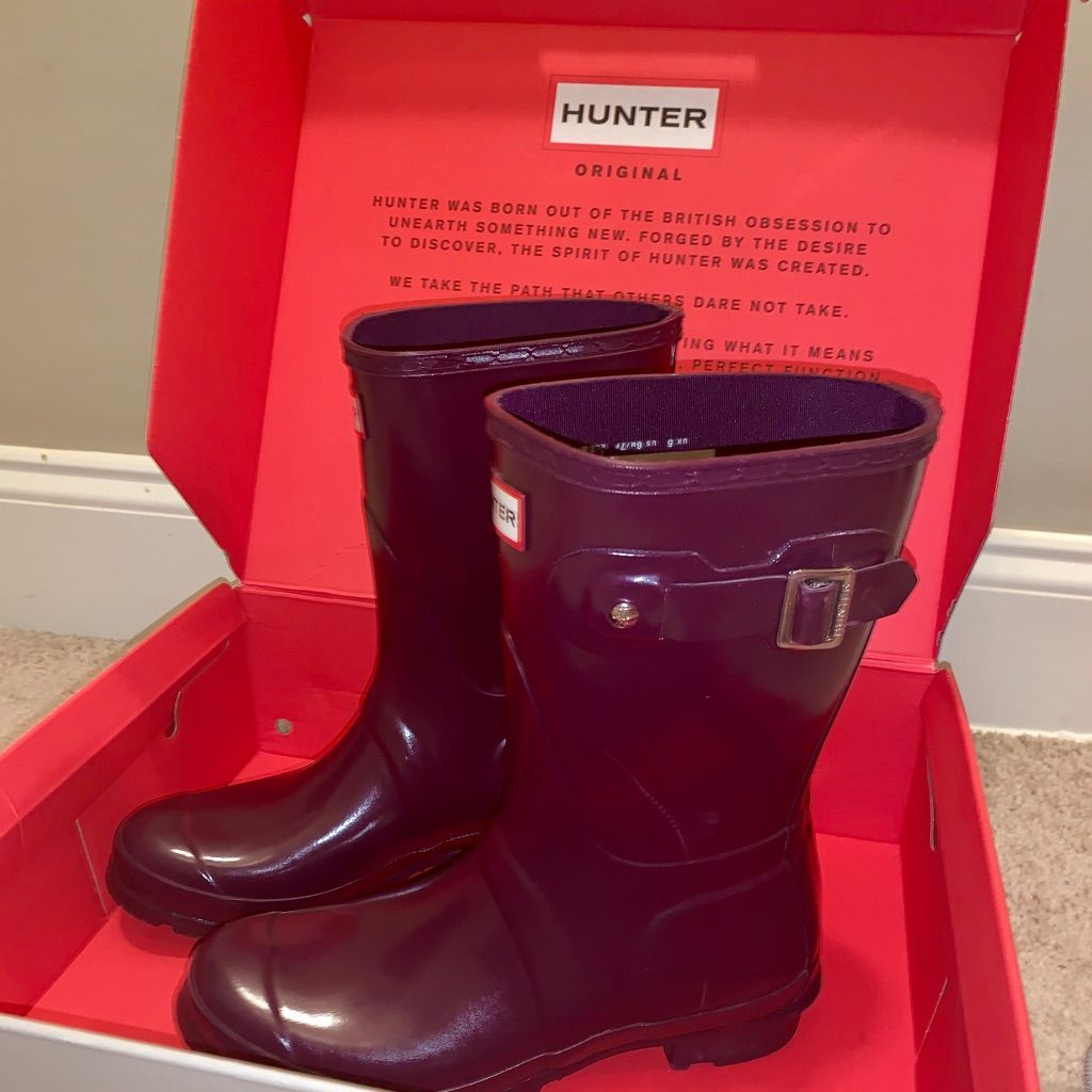 Hunter Rain Boots Plum Hunter Rain Boots Rain Boots Boots
