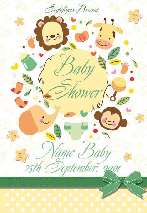 Baby Shower Free Flyer Template -    freepsdflyer baby - baby shower flyer templates free
