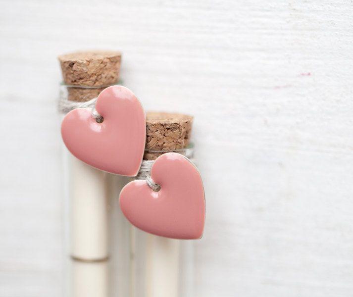 Secret Message Bottle With Pink Hearts