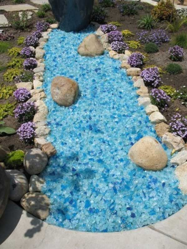 Glass Mulch Landscape Glass Garden Glass Decorative