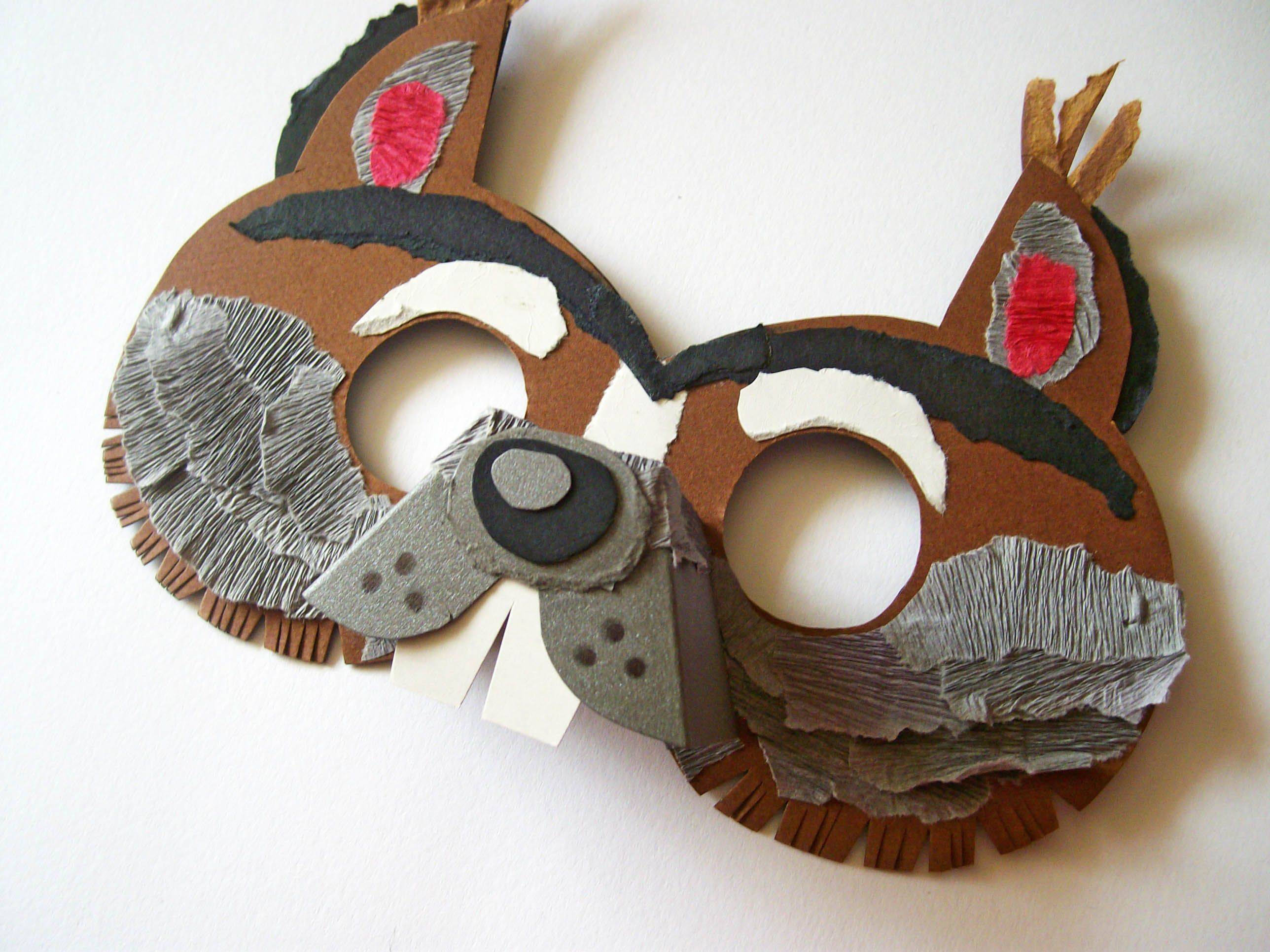 squirrel mask for children musical pinterest. Black Bedroom Furniture Sets. Home Design Ideas