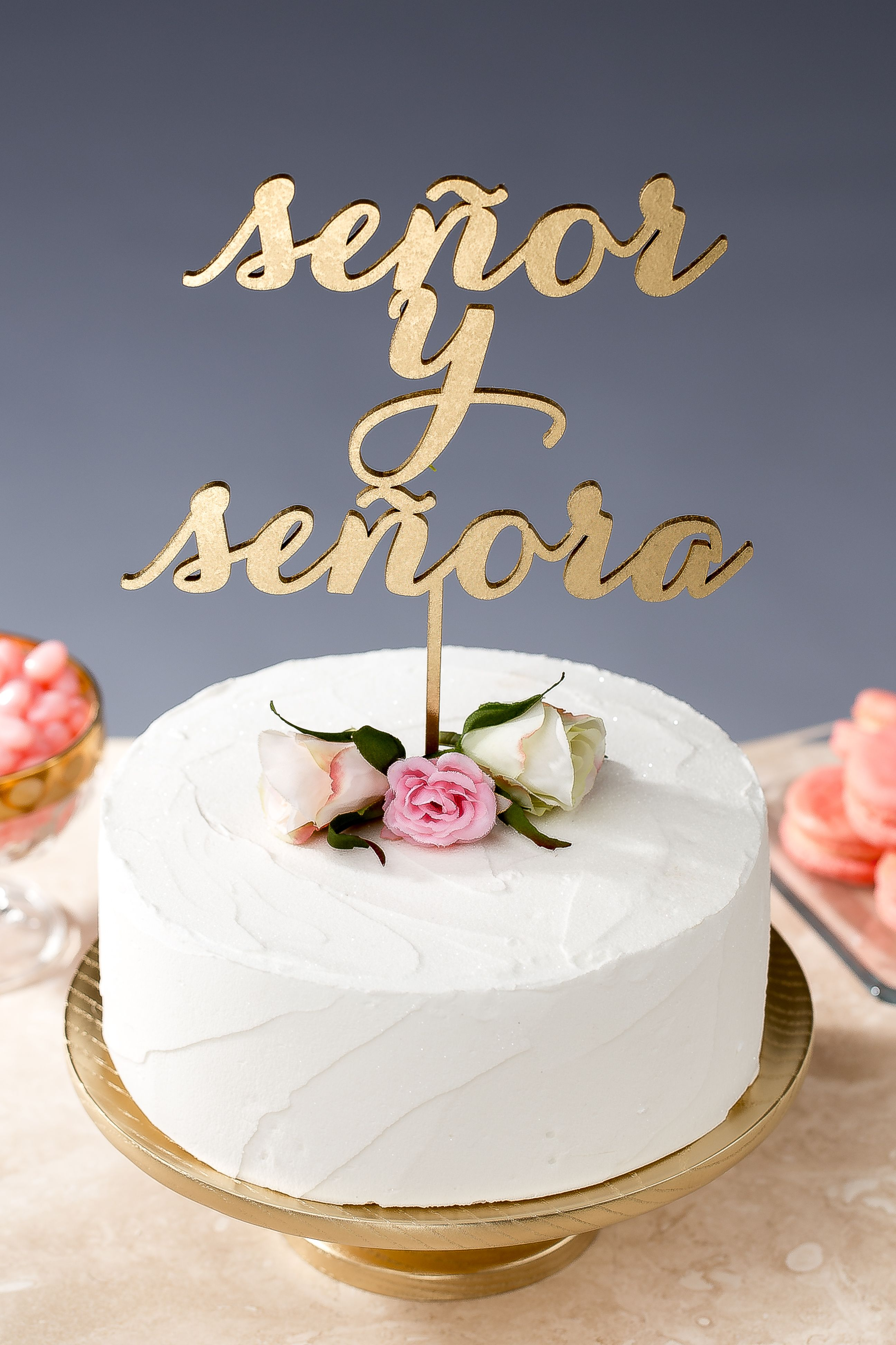 Decoration ideas for 40th wedding anniversary  Spanish cake topper by Better Off Wed on Etsy sy