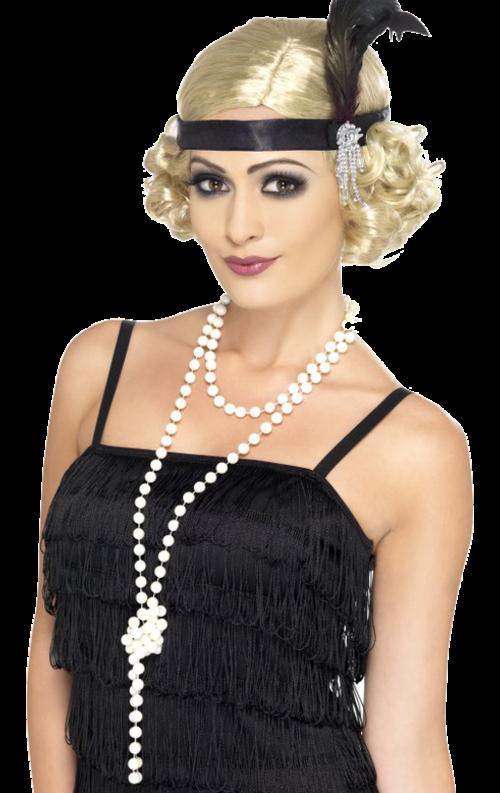 94560297da52c7 flapper girl 20er Jahre Haar, 20er Jahre Frisur, 20er Jahre Mode, Echte  Perlenkette