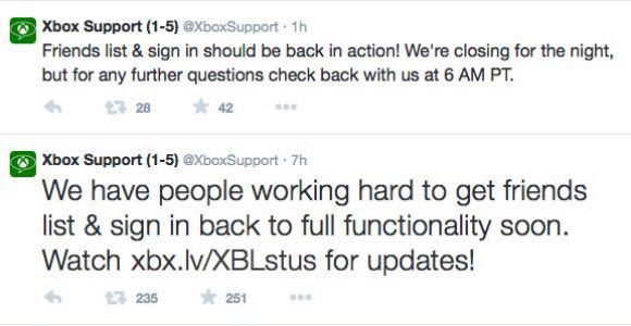 Xbox Live status reports are still showing 'Social and Gaming' as
