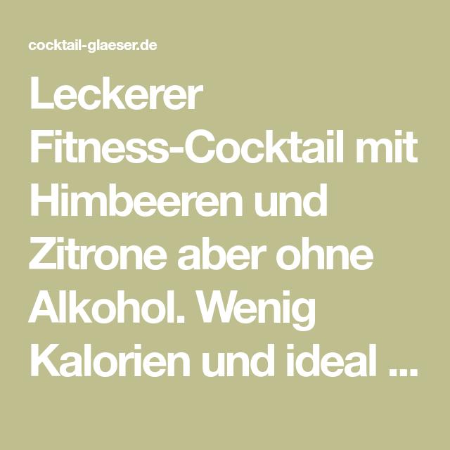 Fitness-Cocktail ohne Alkohol mit Früchten - nur wenige..