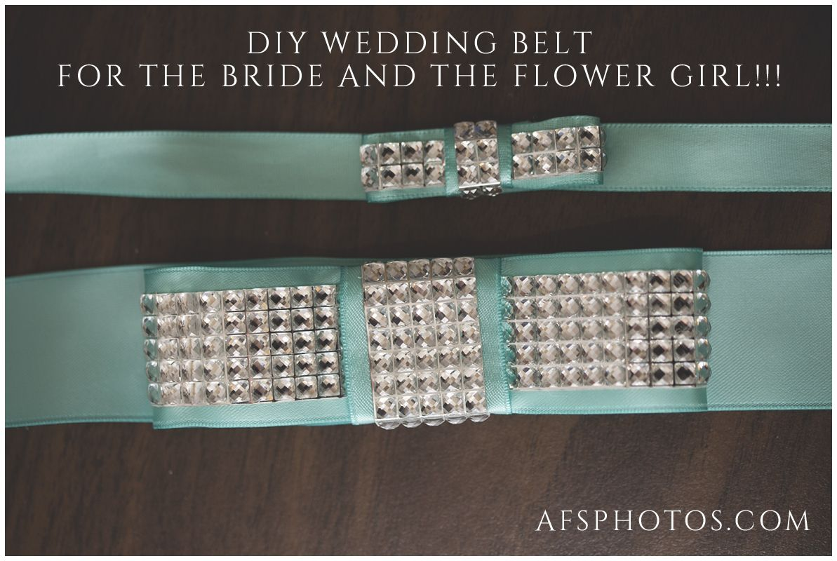 acd574b0fe1 DIY Wedding Sash with Modern Bow and Sparkles Tiffany Blue and Diamond  Ribbon Sash for the bride and mini sash for the flower girl or bridesmaid.