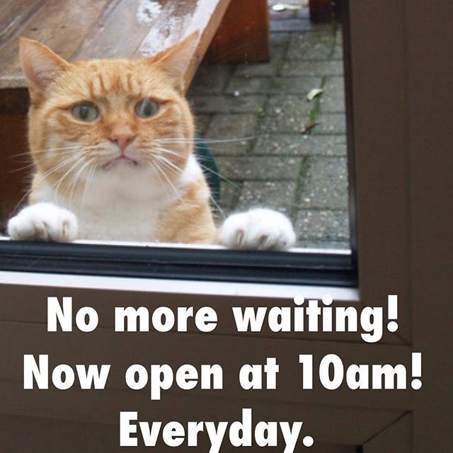 New store hours: 10am to 6pm. Everyday.  No more waiting to shop early.  #yyj #victoria #hours #new