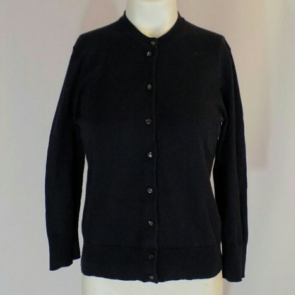 J. Crew Navy Cotton Jackie Cardigan Sweater NEW Chic, perennially ...