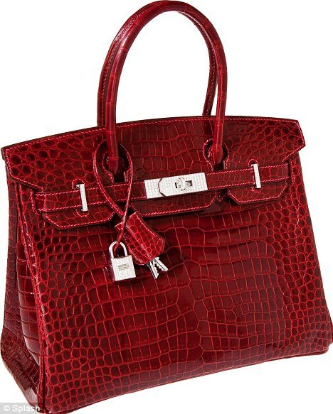 a90213662f9 Hermes Exceptional Collection Shiny Rouge H Porosus Crocodile 30cm Birkin  Bag with Solid 18K White Gold & Diamond Hardware Pristine Condition.