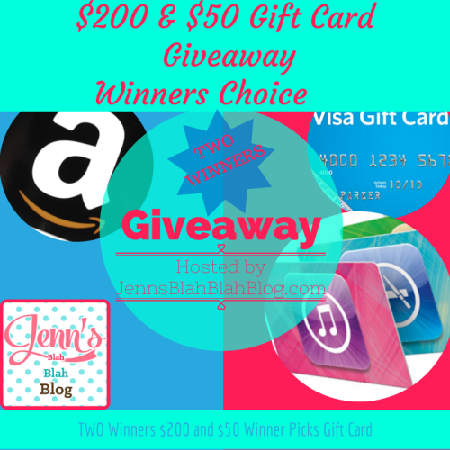 $200 & $50 Gift Card Winners' Choice | Giveaway Hunt - an international giveaway blog