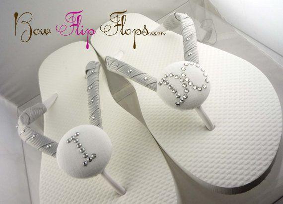 ec07598d4 I DO Bridal Flip Flops Rhinestone Bride Wedding Custom personalized ...