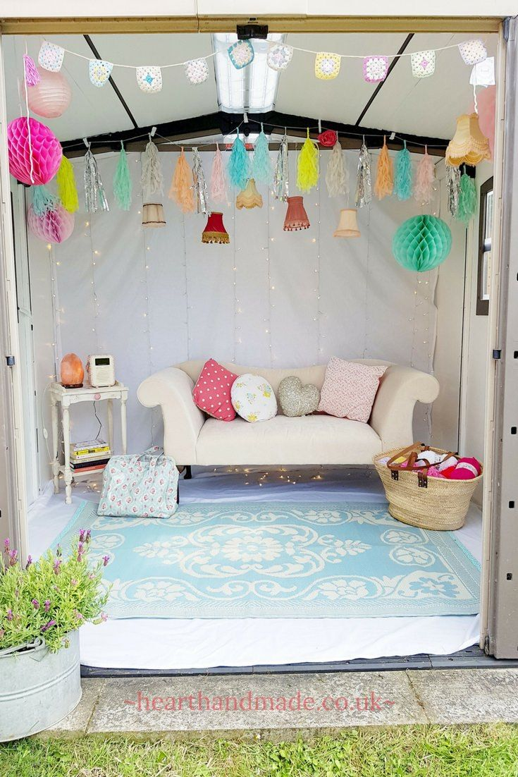 A Stunning Done In A Day Shabby Chic She Shed Makeover With