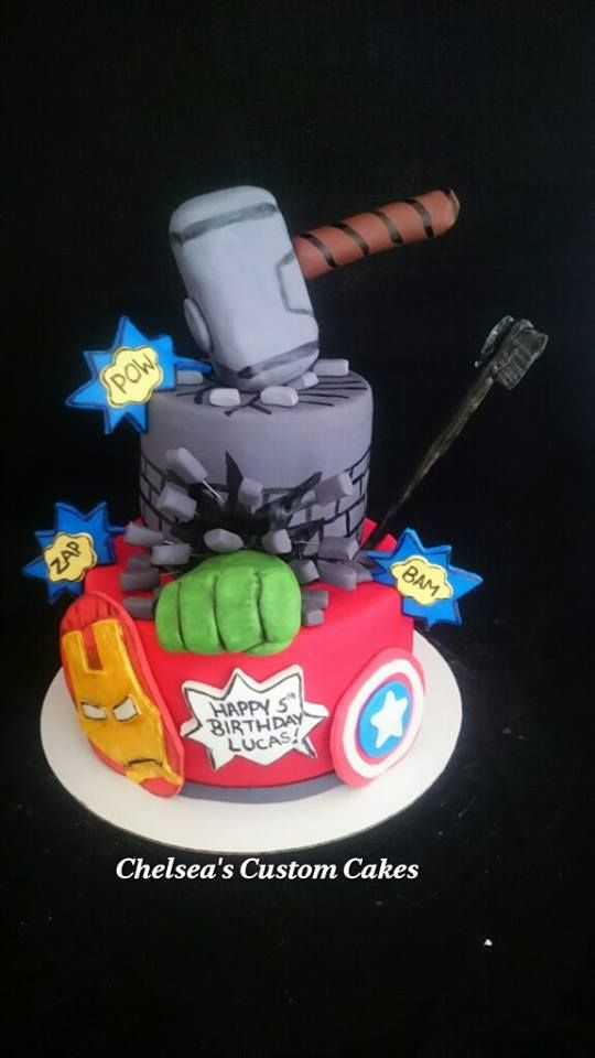 Chelseas Custom Cakes Avengers Cake Iron Man Captain America