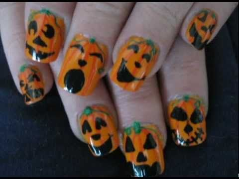Pumpkin Fingers-A Simple and Cute Jack-o-Lantern Halloween Nail Design - Pumpkin Fingers-A Simple And Cute Jack-o-Lantern Halloween Nail