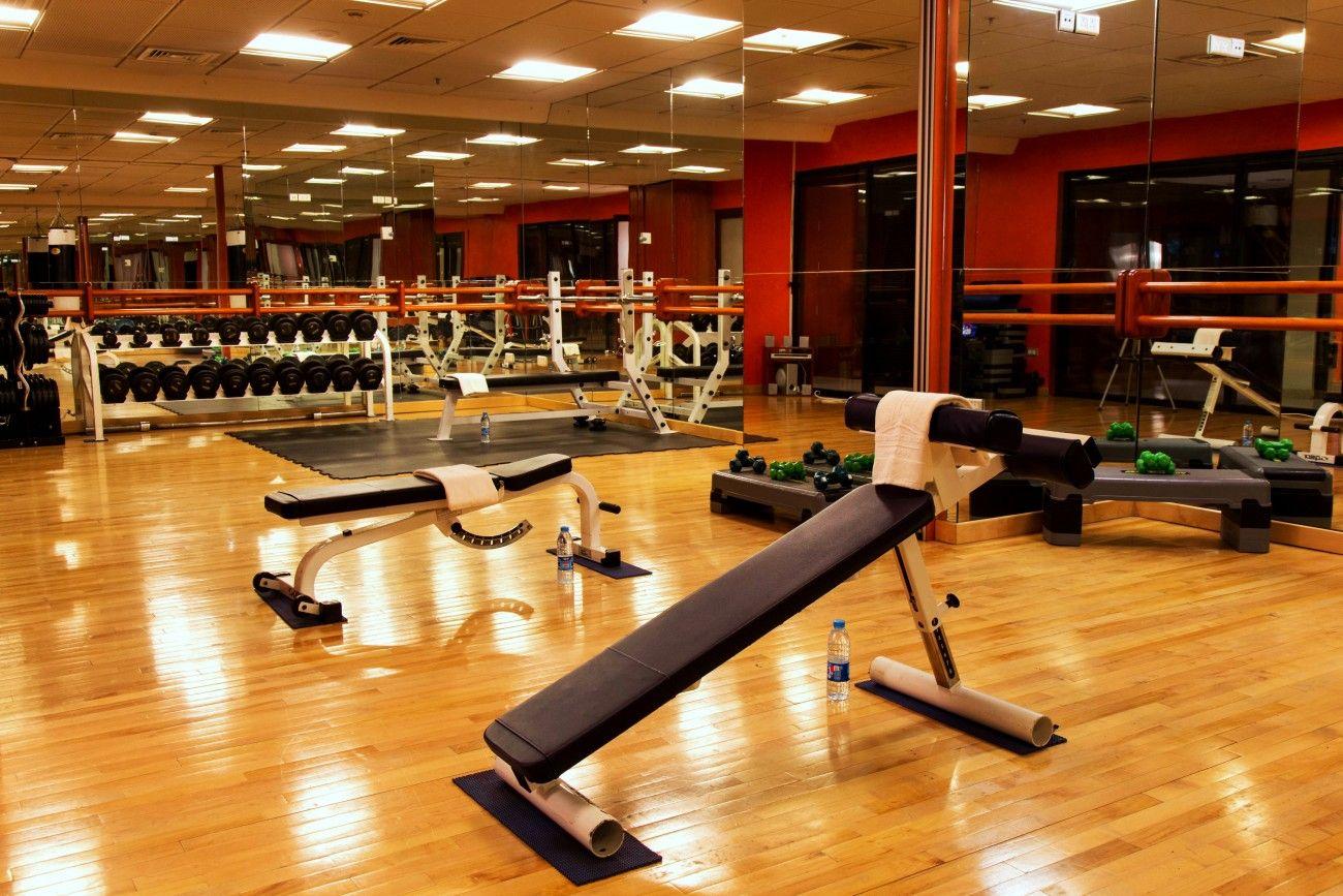 Aerobic studio and gym facilities luxury spa gym