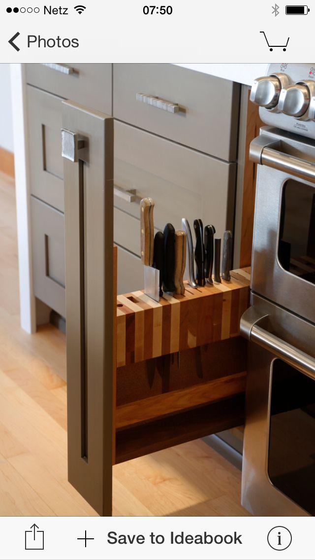 Messer | 廚櫃內容設計 | Pinterest | Küche, Küchenschränke und Lagern