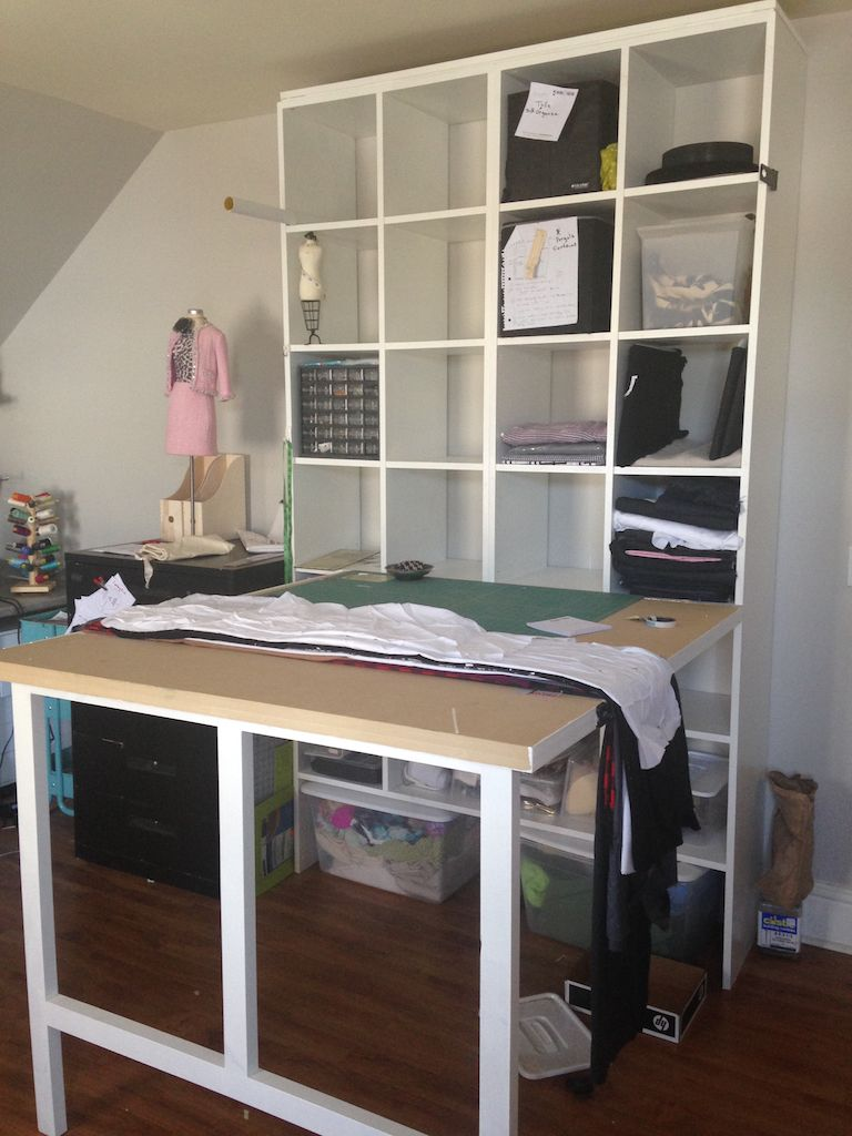 Drop Down Cutting Table With Custom Made Cabinet In My