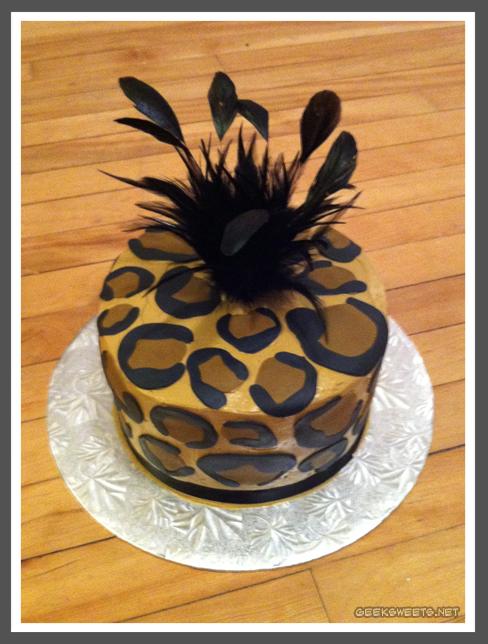 Leopard Print Birthday Cake Cakes Pinterest Leopards Birthday