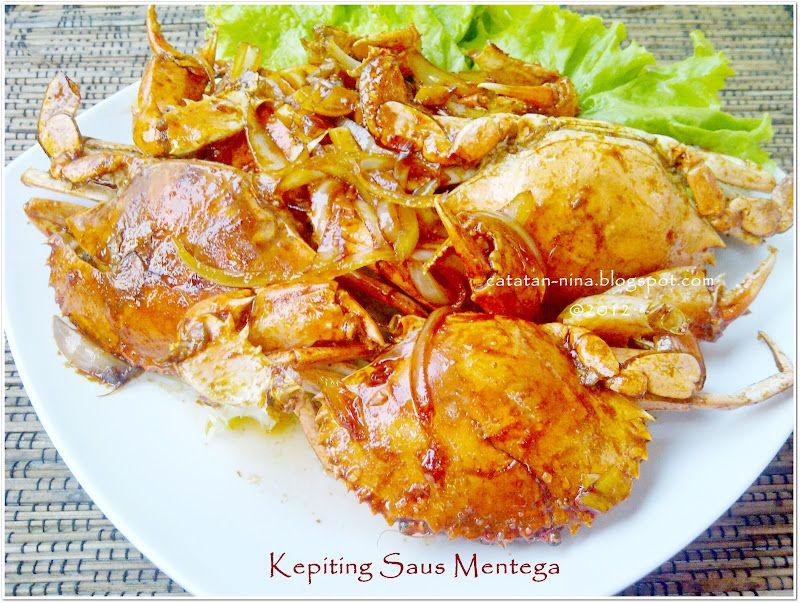 Catatan Nina Kepiting Saus Mentega Kepiting Resep Masakan Indonesia Resep Kepiting