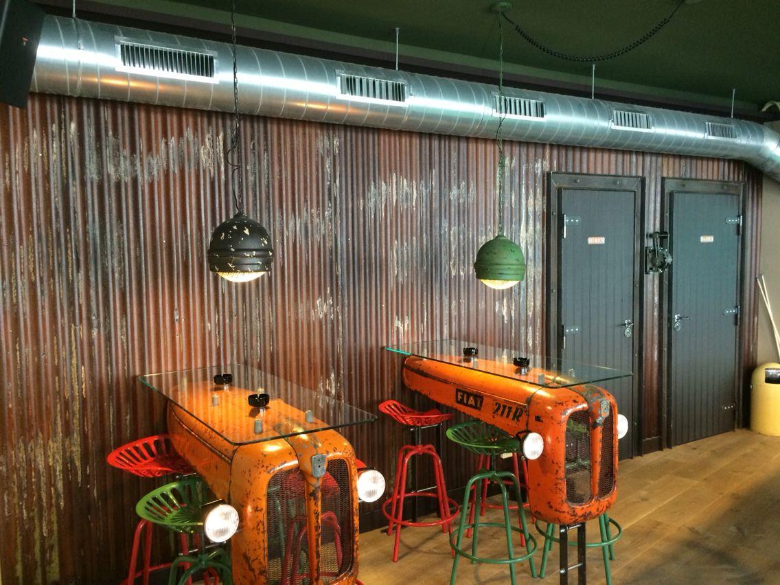 Golfplaten wand koffieshop Birdy Haarlem | Projecten om te proberen ...