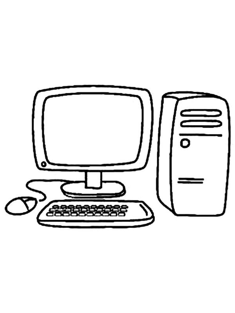 Computer Lab Coloring Pages Who Doesn T Know A Computer Almost Everyone Has A Computer In Their Home A Computer Is An E Computer Lab Coloring Pages Computer