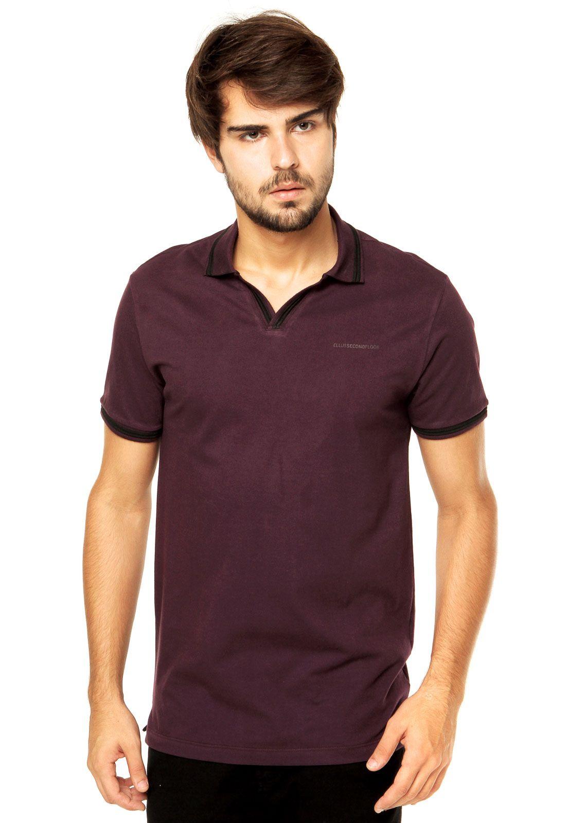 38ba15bbd1457 Camisa Polo Ellus 2ND Floor Roxa - Compre Agora