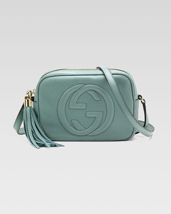 243c662f25b0 Love it! Color is fabulous! Soho Leather Disco Bag, Pool Water by Gucci