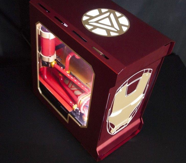 Iron Man Final Gaming, Custom pc and Gaming computer setup - schwarz weiße küche