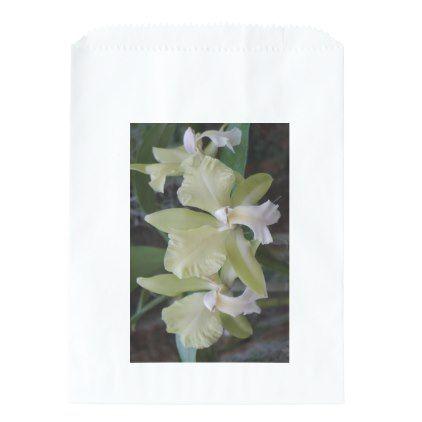 #party - #Pale Green Orchids Favor Bag
