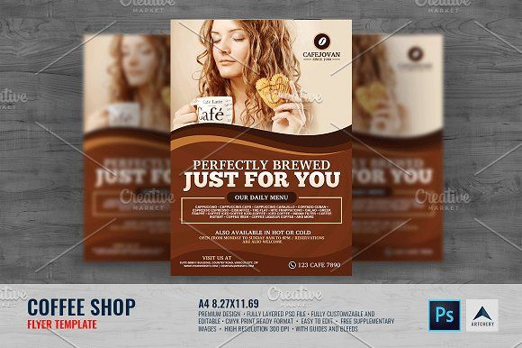 Mobile Apps Promotion Flyer Template by Business Templates on - coffee shop brochure template
