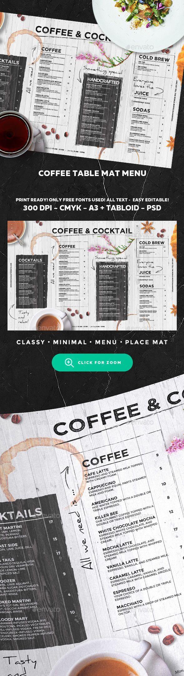 Coffee Menu Template PSD | Restaurant Design | Pinterest | Imbiss ...