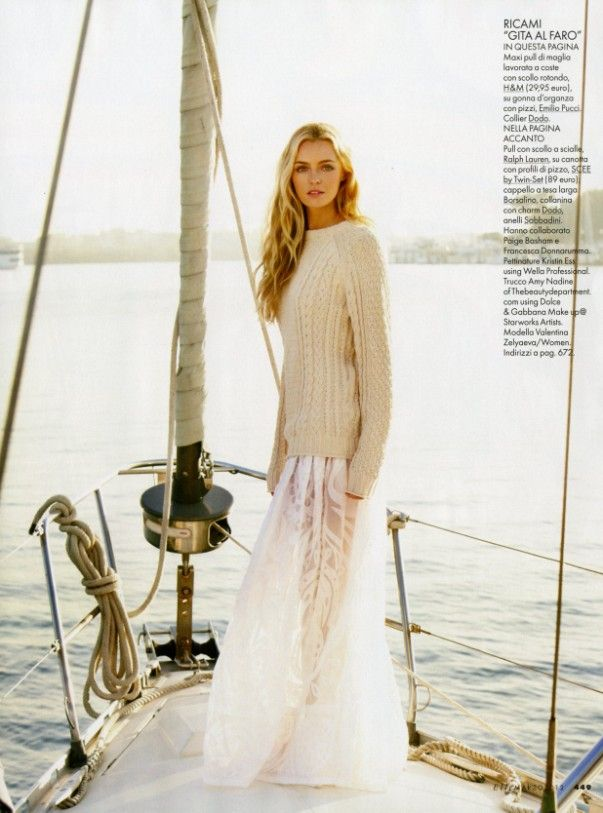 This is the perfect sailing outfit.