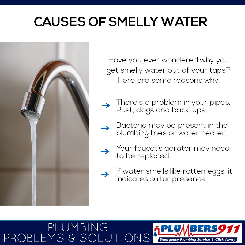 Do You Know Why You Get Smelly Water Out Of Your Taps Here Are