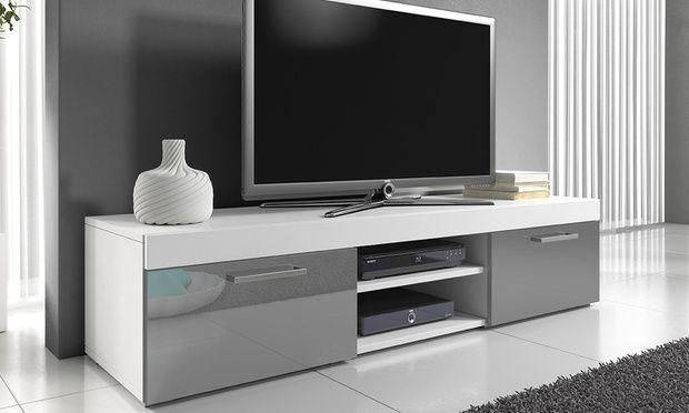 white gloss tv unit tv cabinets