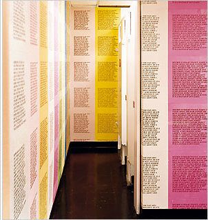 The Womens Restroom Of Fabric Workshop And Museum In Philadelphia Wallpaper By Jenny Holzer